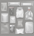 empty plastic bag package mockup transparent pack vector image vector image