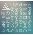 Equipment Travel and sea icons Retina vector image