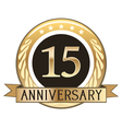 Fifteen Year Anniversary Badge vector image