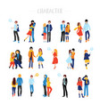 flat cartoon happy romantic vector image vector image