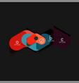 flat design geometric infographics arrow shape vector image vector image