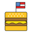 hamburger united state independence day related vector image
