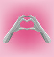 hand-made polygon style heart symbol means love vector image vector image