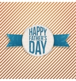 Happy Fathers Day Holiday Badge with blue Text vector image vector image