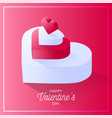 happy valentine day red love heart icon isometric vector image vector image