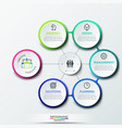 infographic design template with 6 circular vector image vector image
