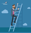 ladders to clouds template vector image vector image