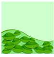 leaves and green wave pattern Abstract vector image