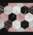 marble luxury chaotic from hexagons seamless vector image
