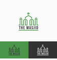 masjid - islamic mosque logo template vector image