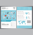medical brochure design template healthcare and vector image vector image