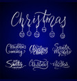 merry christmas lettering typography handwriting vector image vector image