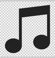 music note icon in flat style sound media on vector image vector image