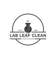 natural lab logo designs concept science vector image vector image