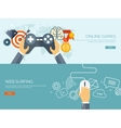 Online games Joystick and vector image