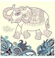 original stylized ethnic indian elephant pattern vector image vector image