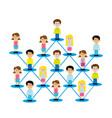 people team job icon vector image vector image