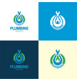 plumbing services logo and icon vector image vector image