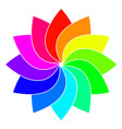 rainbow spectrum color wheel children wind vane vector image vector image