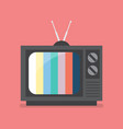 retro television with color frame vector image vector image