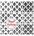 Royal french lily seamless pattern backgrounds vector image vector image