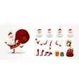 santa claus set for animation and motion design vector image