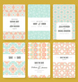 Save The Date collection vector image vector image