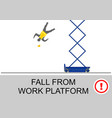 scissor lift safety vector image
