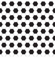 seamless pattern of black and white hexagons vector image