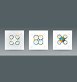 set infographics 3d circle label with arrows sign vector image vector image