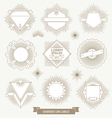 set line design emblem and hipster labels vector image vector image