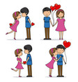 set of couple in love vector image