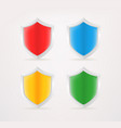 shield icon isolated on grey background vector image