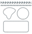Silver Chain of Ball Links Set vector image vector image
