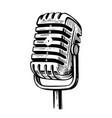 sketch old microphone vintage vector image