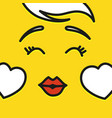 smile icon template design in love emoticon vector image