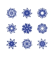 Snowflakes on a white background vector image vector image