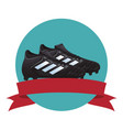 soccer boots icon vector image vector image