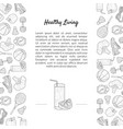 sport and diet banner template with place for text vector image vector image