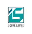 square initial letter is logo concept design vector image vector image