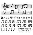 standard music notes symbol set eps10 vector image