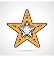 Starfish flat style icon vector image vector image