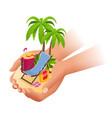 summer vacation passenger airplane luxury vector image