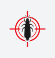 thrips icon red target insect pest control sign vector image vector image