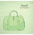 Travel background in retro green tints vector image vector image