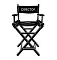 vintage monochrome movie director chair concept vector image vector image