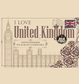vintage postcard with big ben in london vector image vector image