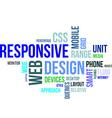 word cloud responsive web design vector image vector image