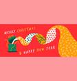 year open gift box cartoon banner vector image