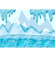 Cartoon winter landscape with iceberg and ice vector image